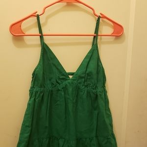 Green Flowy Tank Top Blouse